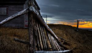 Old Fence at Sunset by Witch-Dr-Tim