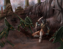 Julan and the Clannfears by plangkye