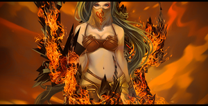 Lady in Fire Signature by Aegid