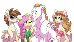 NG: Fluttershy's family by Lopoddity