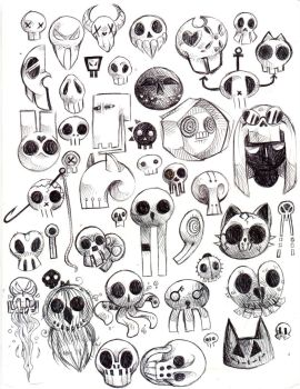 Some Skulls Of Characters by Captain-Dark-Kitty
