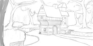 Practicing Perspective - Forest Hut by willroberts04