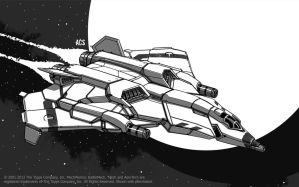 Battletech - Shikra Aerospace Fighter by Shimmering-Sword
