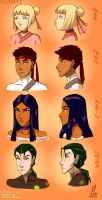 Legend of Sol: The Evil Team Head Concepts by SolKorra