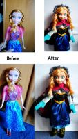 Frozen- Anna repainted by martek97