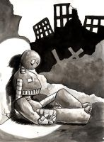 nothing as bad as a sad robot by mbielaczyc