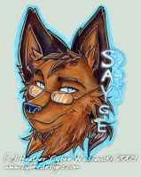 Anthrocon Badge :: Sayge by cybre