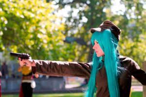 Miku: Pulling the trigger by NorFrosch
