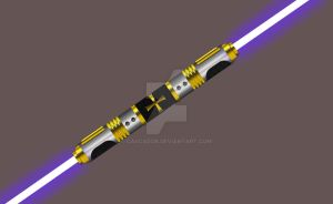 Double-Bladed Lightsaber by Cascador