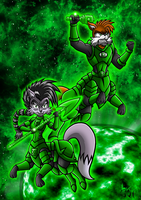 Green Lantern Centaurs Lupe and Lobo by Berty-J-A