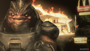 Grunt loves McDonalds (Mass Effect 3) by toxioneer