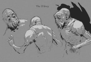 Conqueror -  The D'Drey (sketches) by KeanKennedy
