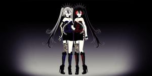 Gothic Zatsune + Hagane Miku - DOWNLOAD by YamiSweet