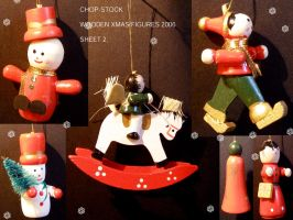 Wooden Xmas Figures 2.. by chop-stock