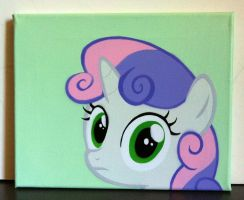 Sweetie Belle Stare by mittens2248