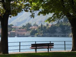 Lake of Lecco_bench by kingnilo