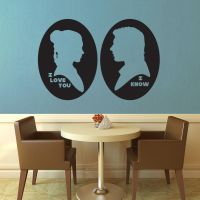 Star Wars - I Love You I Know Cameo Wall Decal by GeekeryMade