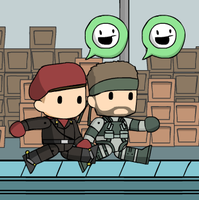 Solid Snake and Revolver Ocelot by McGenio