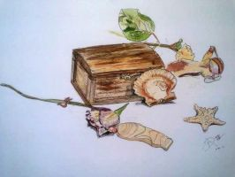 Watercolor Still Life by Tchuron