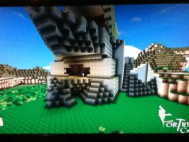 Fortress Craft: Saris Rock veiw to lower room by Plazma-Reaper