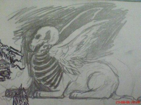 Skull Head Sphinx by canyuzgec
