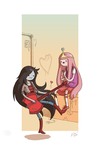 Marceline x PB: Let me sing you a song. by Fox-Demon-Kasumi