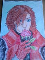 Genesis and a rose (coloured) by lustyvampire