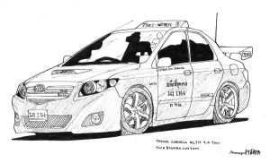 Corolla Taxi by ngarage