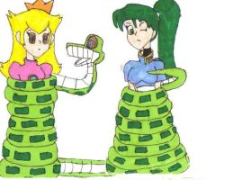 Peach and lyn by imperialdraco