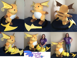 Life Size Raichu Plush! by GuardianEarthPlush