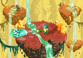 Bountylands - Amber Grotto by papercaves