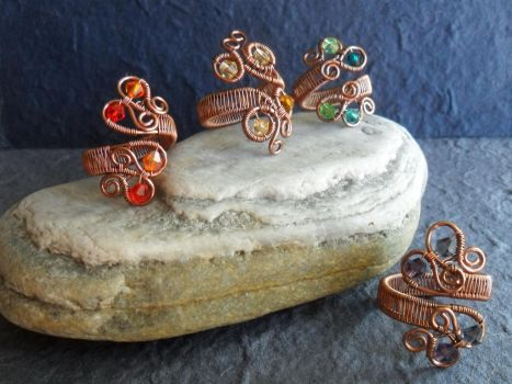 Adjustable Copper Rings by Carmabal