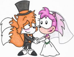 Tails and Amy's Wedded Bliss by nintendomaximus