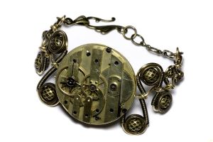 Steampunk Bracelet Full Steam by CatherinetteRings
