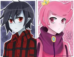 Marshall-lee-and-prince-gumball-adventure-time by fioleefionnamarshall