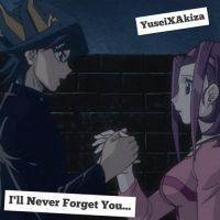 YuseiXAkiza Wallpaper: ~I'll Never Forget You~ by XxXxRedRosexXxX