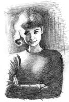 audrey rapid sketch by subhankar-biswas