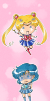 Itty Bitty Inner Senshi by TriaElf9