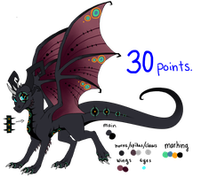 Dragon adoptable TAKEN by Tearraven