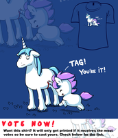 Woot Shirt - Unicorn Tag by fablefire
