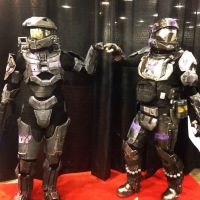 Female Spartan ODST Pound it by kitnipz