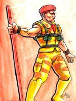 Sketchcard Final Fight Rolento by fedde