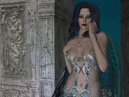 The Queen of Atlantis :Detail: by Luizalenora