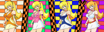 Honey Kisaragi through the ages. by dabritian