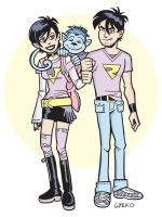 Wonder Twins Zan and Jayna by BillWalko