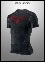 Red Hood Combat Shirt by seventhirtytwo