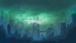 Sci-fi Landscape Speed-paint by WhyDefy