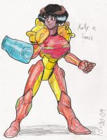 Kally as Samus by RocMegamanX