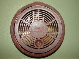 Rusty Metal Smoke Alarm by FantasyStock