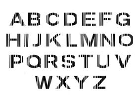 Barcode typography by IHaveSeenTheRain